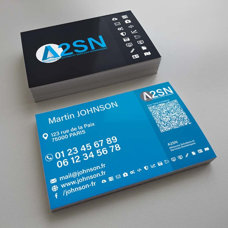 Design A2SN – Carte de visite