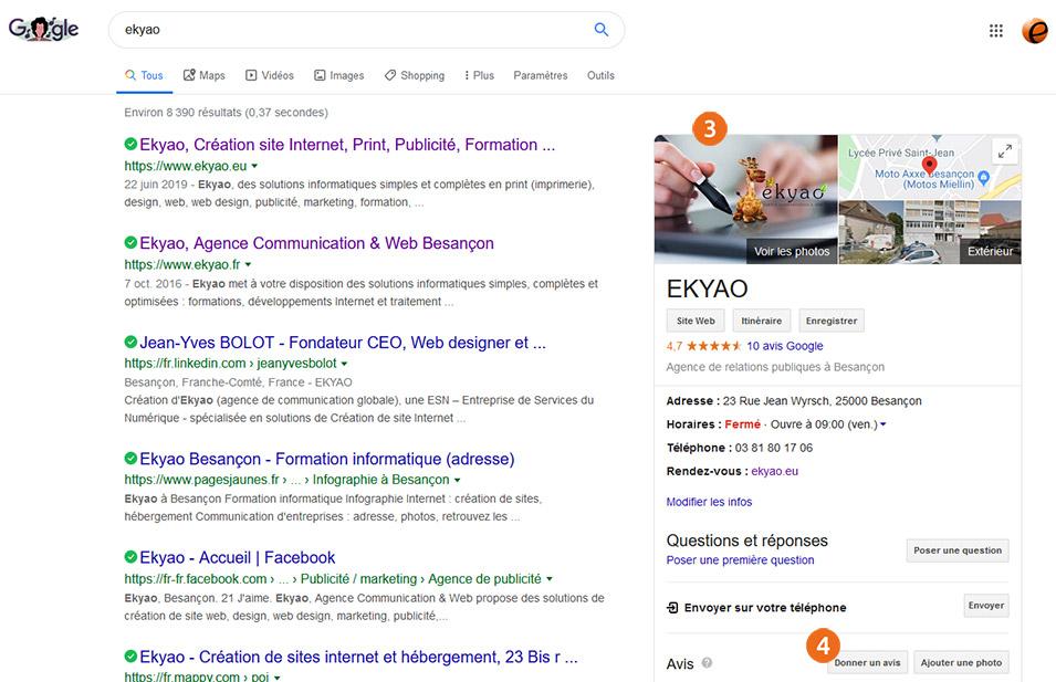 EkyaoBlogAvisEtape03 - Noter et commenter nos prestations et services via Google Avis