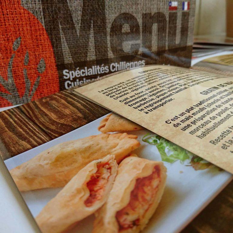 Design Pachamama Restaurant – Menu et Carte de visite