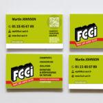 Design FCCI – Carte de visite
