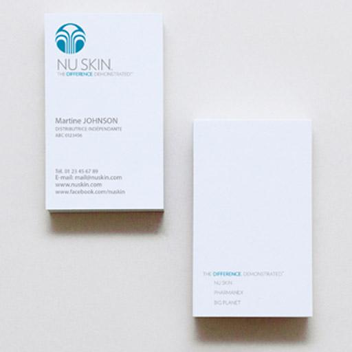 Design NU SKIN – Carte de visite