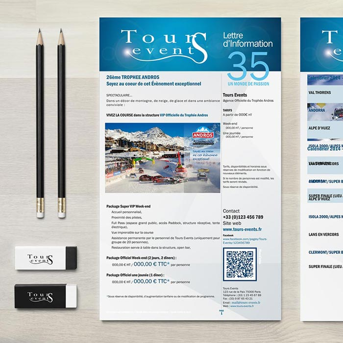 Print – Tours Events Newsletter