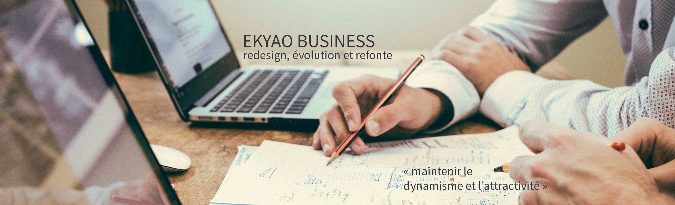 Ekyao Business - Web design. Maintenir le dynamise et l'attractivité
