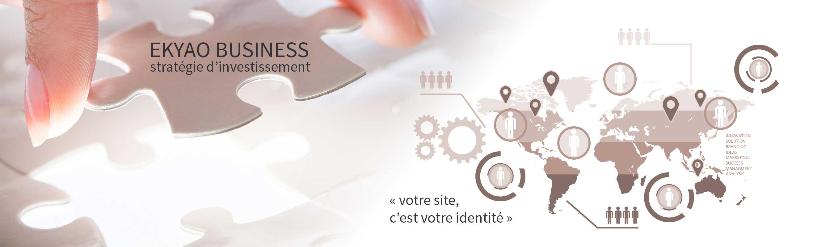 Ekyao Business - Web design. Stratégie d'investissement