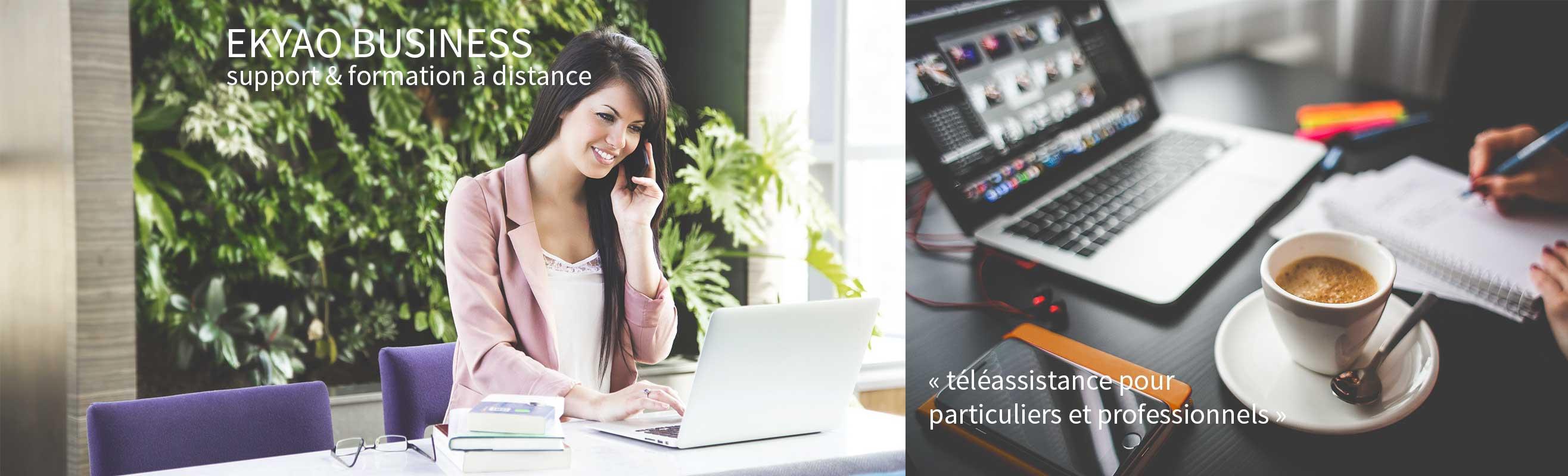 Ekyao Business - Assistance à distance. Téléassistance pour particuliers et professionnels